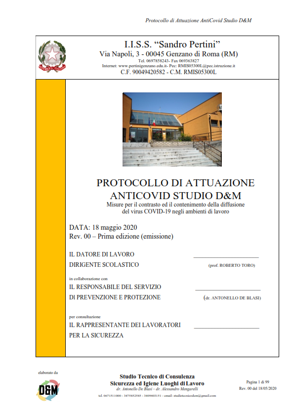 Protocollo AntiCovid Studio D&M